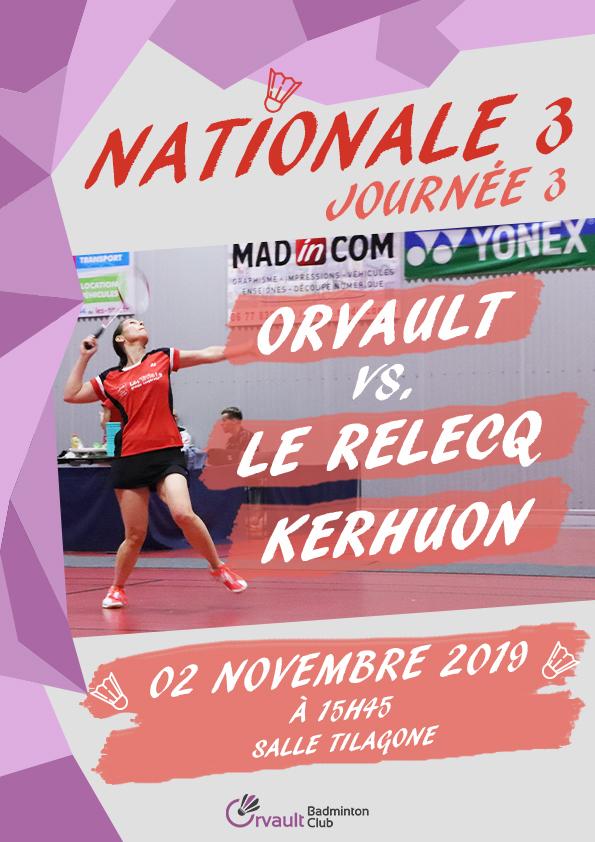 Match N3 Journée 3 : Orvault vs. Brest