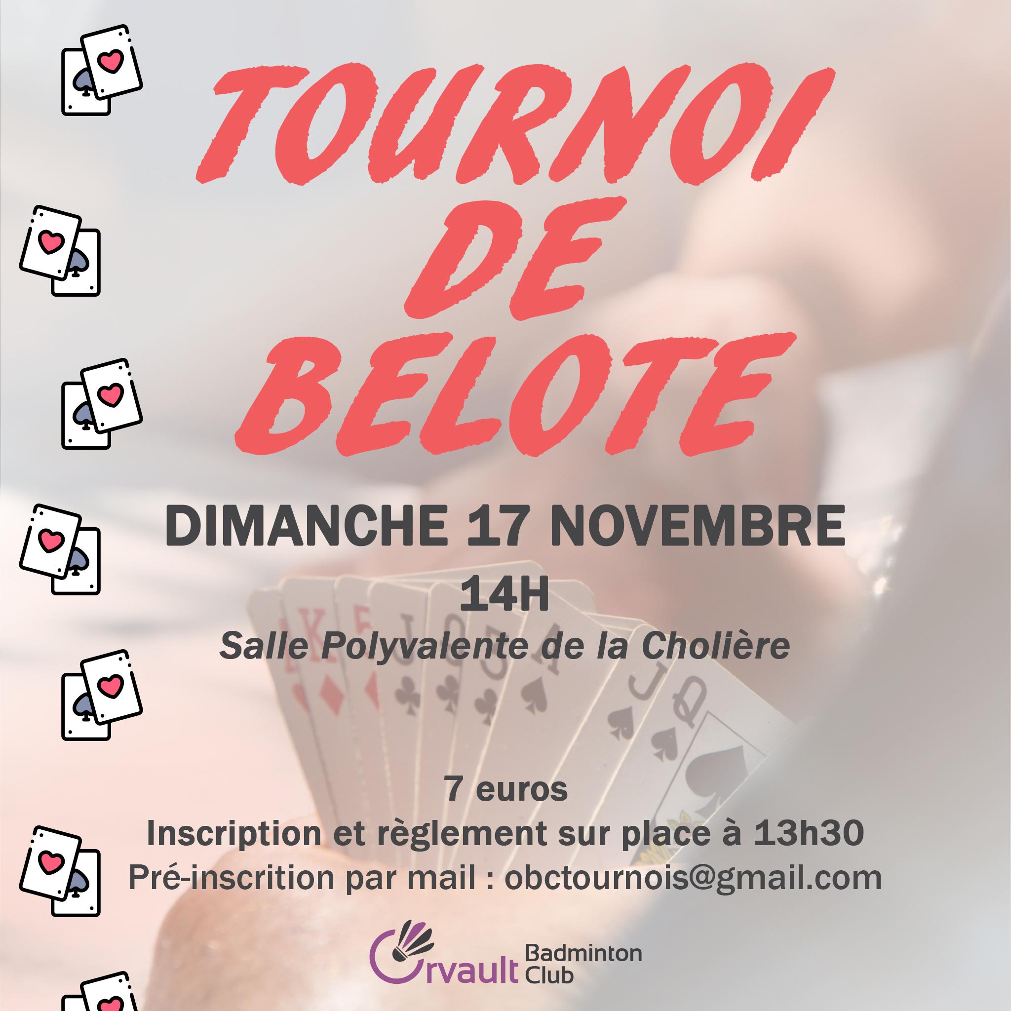 Tournoi de Belote de l'OBC 2019 !