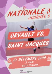 Match N3 Journée 5 : Orvault vs. Saint Jacques