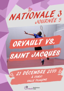 Read more about the article Match N3 Journée 5 : Orvault vs. Saint Jacques