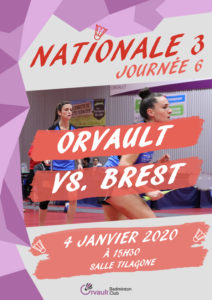 Match N3 Journée 6 : Orvault vs. Brest (retour)