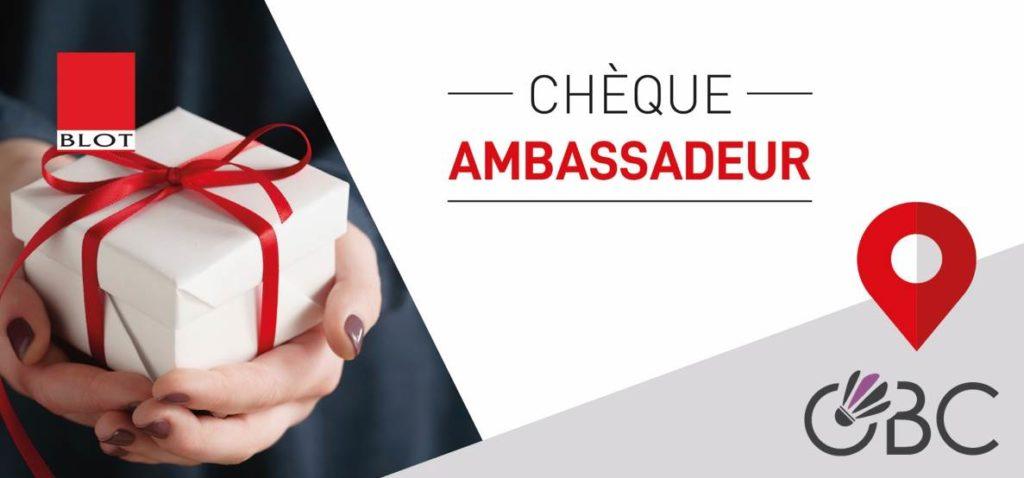 Chèque Ambassadeur BLOT Immobilier OBC Face