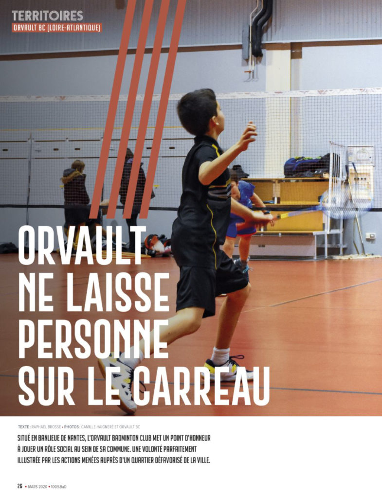 couverture mag 100%bad orvault badminton club