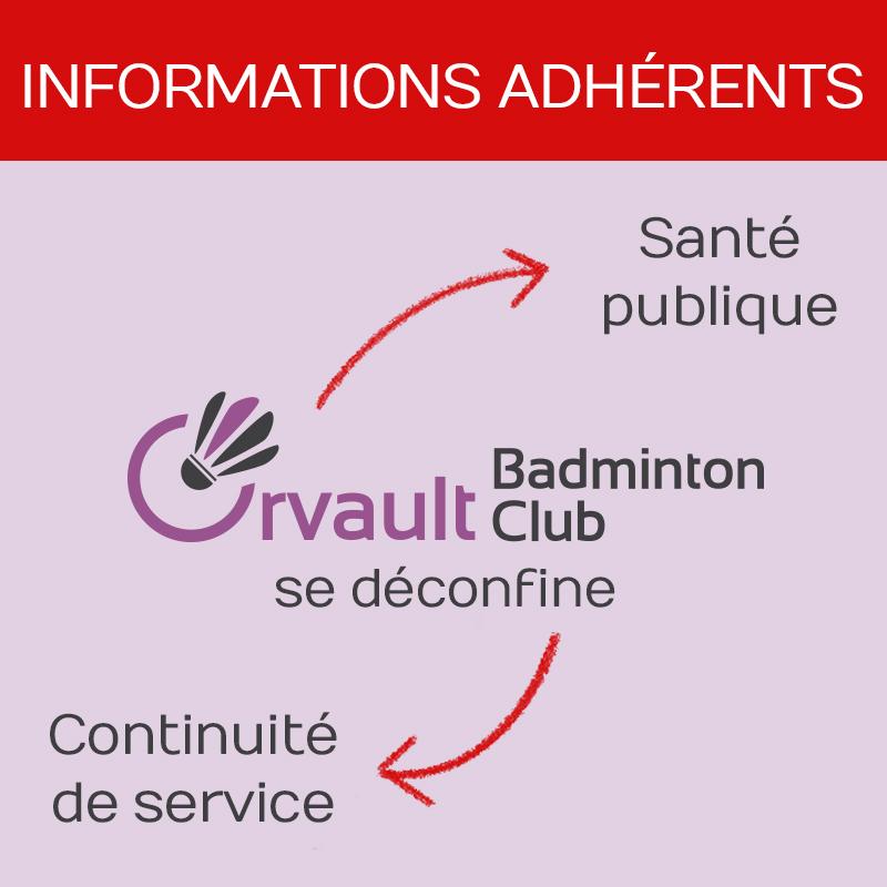 Informations aux adhérents