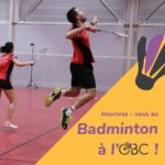 nouvelles inscriptions badminton club orvault
