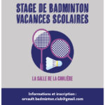 stage jeunes obc badminton juillet 2020