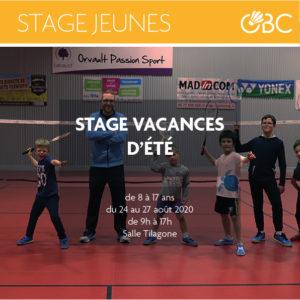 Stage Jeunes fin Août