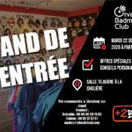 stand rentrée matériel orvault badminton club 22 septembre 2020