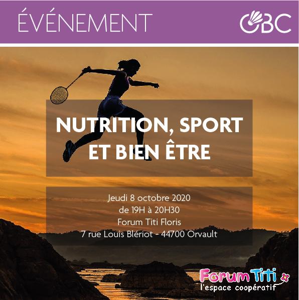 Conférence Nutrition, Sport et Bien-être