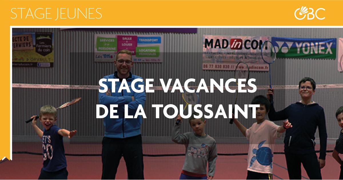 stage jeunes badminton orvault club