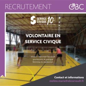 Recrutement – Service Civique pour la Féminisation du sport