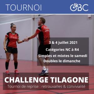 Le Challenge Tilagone est de retour les 3 et 4 juillet 2021 !
