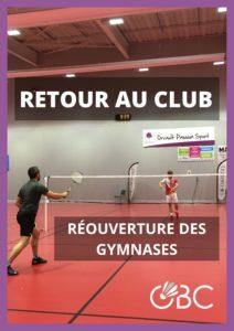 Retour des licenciés au badminton