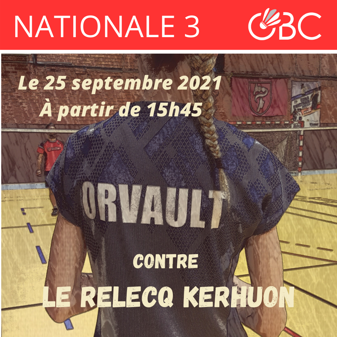 You are currently viewing Nationale 3 / J1 : Orvault vs. Le Relecq Kerhuon